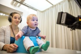 Onderzoek bij een baby