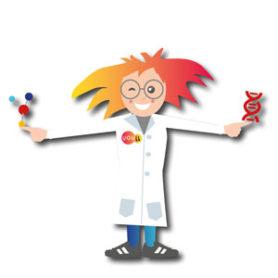 Professor Bovenkamer met DNA